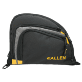 Allen Auto-Fit 2-Pocket Handgun Case Measures 9.5x7.25 Inches Black/Gray/Yellow 7732