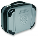Bulldog Cases Molded Double Pistol Case 9x12x5in, Gray w/ TSA Lock