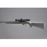 10-22 Rubber OverMolded Stock with .920 diameter Barrel OD Green 22210 by Hogue