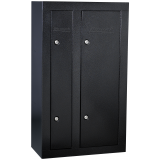 Homak Firearm Double Door Steel Gun Cabinet, store 8 guns