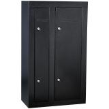 Homak Firearm Double Door Steel Gun Cabinet, store 8 guns