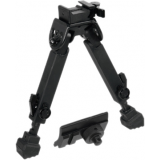 Leapers UTG Full Metal Quick Detach Bipod, Rubber Armored
