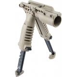 Vertical Foregrip with Bipod and 1in Light Adapter by Mako Group