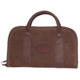 Outdoor Connection Superior Rectangular Pistol Case Suede Leather w/Handle Brown 8 in.