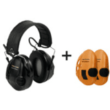 Peltor Tactical Sport Electronic Ambient Listening Headset, Folding Headband, Black by 3M