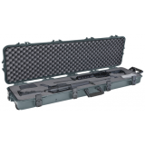 Plano Molding All Weather Double Scoped Gun Case With Wheels And Pluckable Foam Green 108180