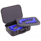 Plano Moulding  10-10089 PXLT-18 Black Four Pistol Case w/Key-Lock Latches