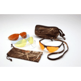 Rendezvous Ducks Unlimited Shooting Glasses - Black Frame, Amber, Sun Block Bronze, Infinity Blue, and Clear Lenses w/ Neoprene Case, Microfiber Cleaning Bag and Camo Breakaway Cords DUCAB by Pyramex