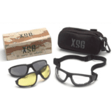XSG Ballistic Shooting Glasses w/ Clear, Gray and Amber Ballistic Lens Kit by Pyramex