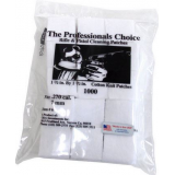 The Professionals Choice 100% Cotton Knit White Square Patches, US Made