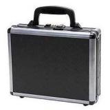 TZ Case  TZ0011DPI Ironite Alumitech Diamond Plate Single Pistol Case 11.5x9x3.25in, Black