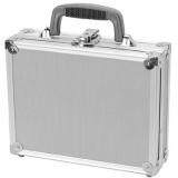 TZ Case VT0011SD Value-Tech ABS Panel Single Pistol Case 11.5x9x3.25, Silver